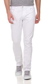 Calça Masculina Branca Sarja Lycra 62 64 66 Plus Size Grande