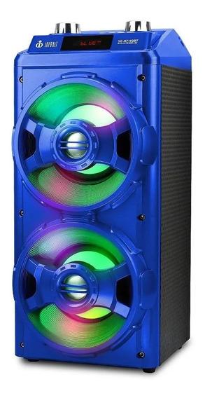 Caixa Som Torre Bluetooth 12w Wireless Sd Usb Fm Microfone