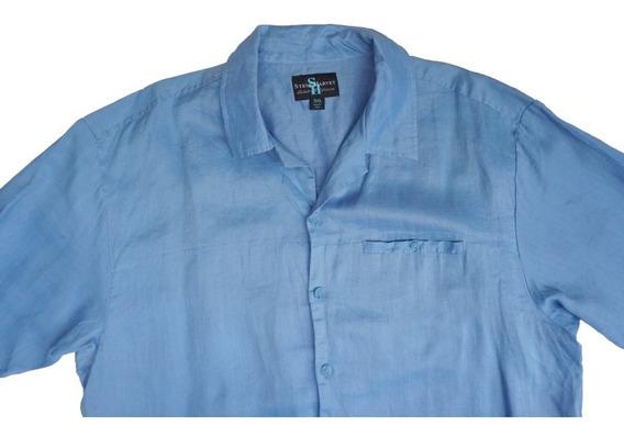 Camisa 100% Lino Steve Harvey Talla 2xl Tipo Guayabera