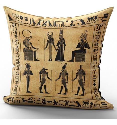 Imagem 1 de 2 de Capa De Almofada 40x40cm Egípcia Egito Antigo Mod 1