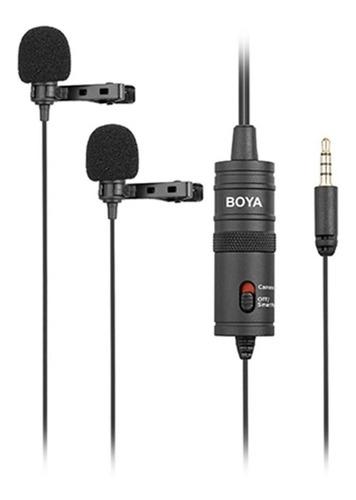 Microfono Doble Corbatero Boya P/ Smartphone By-m1dm