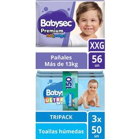 Pack Pañal Babysec Premium Talla Xxg + Toallas Húmedas U
