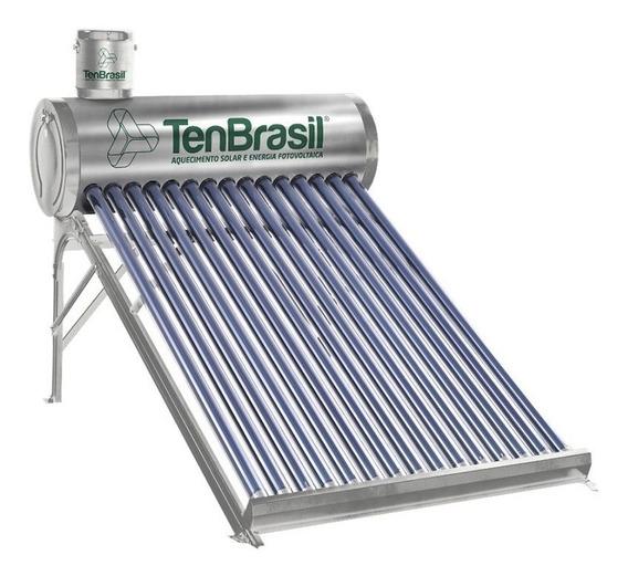 Aquecedor Solar Vácuo Acoplado 300 Lts 30 Tubos Ten Aço 316l