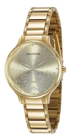 Relógio Feminino Mondaine 53862lpmvde2 38mm Aço Dourado