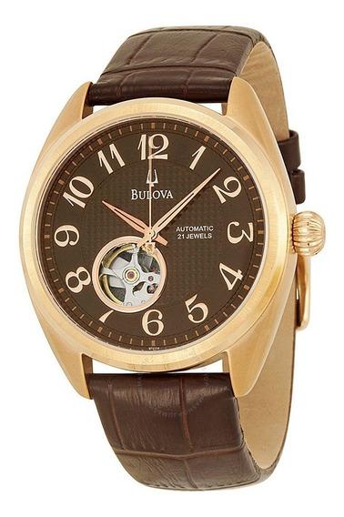 Maravilhoso Relógio Bulova 97a104 Rosê Gold Automático Lindo
