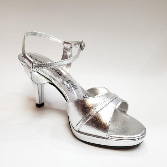 Sandalia Formal Elegante Tacón Bajo 64250