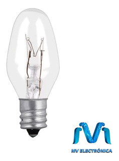 Foco Incandescente Transparente Base E12 7.5w 127v Mv Electr