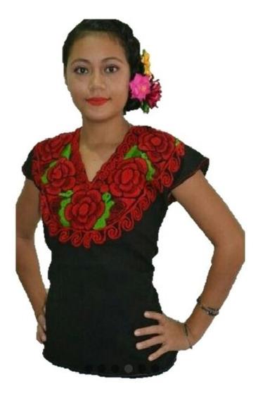 Promocion Blusa Bordada Artesanal De Chiapas