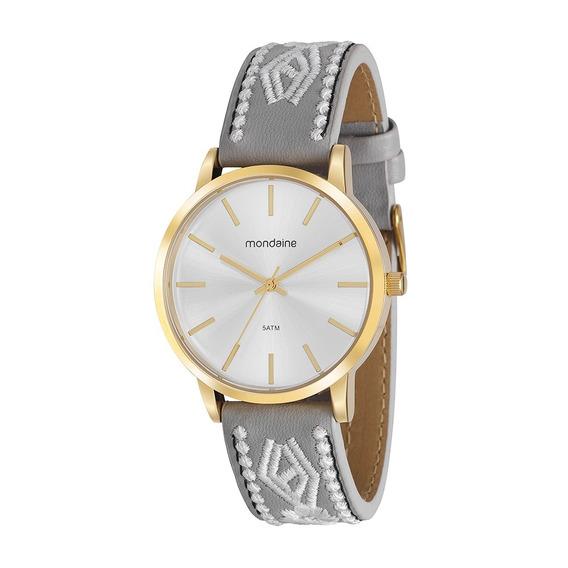 Relógio De Pulso Feminino Mondaine 99329lpmvdh2k8 C Brinde