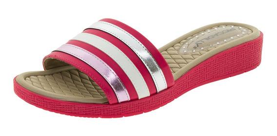 Tamanco Feminino Salto Baixo Pink Piccadilly - 561008