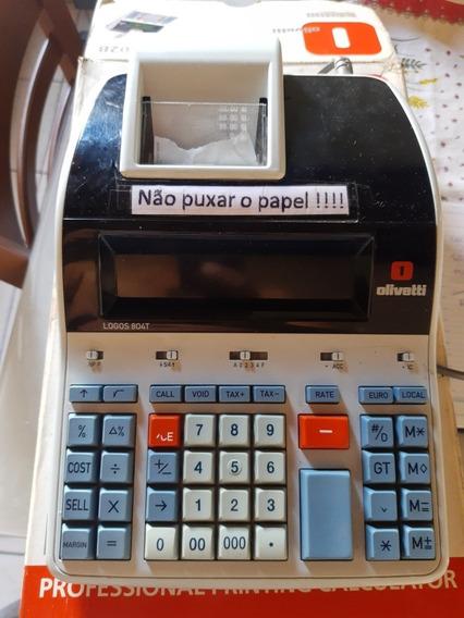 Calculadora Olivetti Logos 804t - Original Lacrado C/ Garant