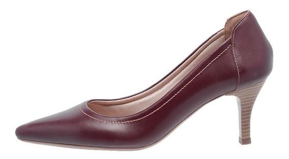 Sapato Feminino Scarpin Salto Mz Couro Ref 3801frete Gratis