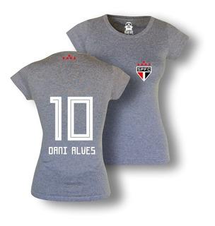 Camisa Feminina São Paulo Daniel Alves Algodão