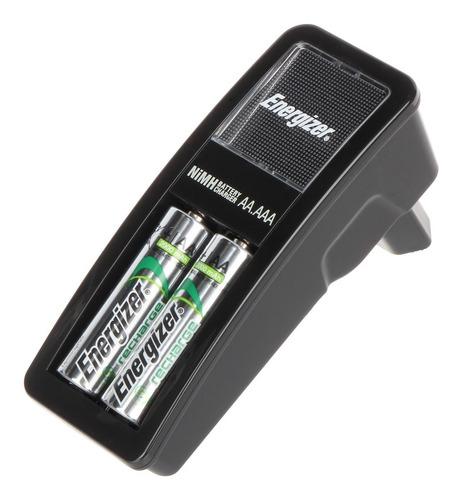 Cargador Energizer Mini + 2 Pilas Recargables Aa 1350mah