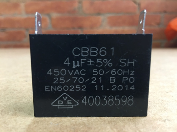 Capacitor 4 Uf X 450 V - Ventilador Condensadora Ar Split
