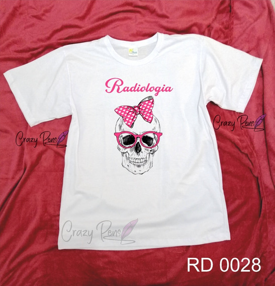 Camisas Camiseta Blusa Radiologia Feminino E Masculino