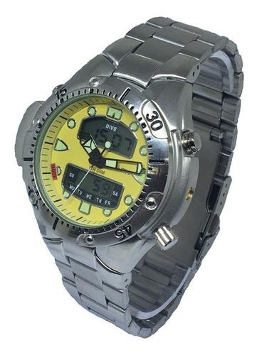 Relógio Atlantis Aqualand Original Jp1060 Aço Luxo