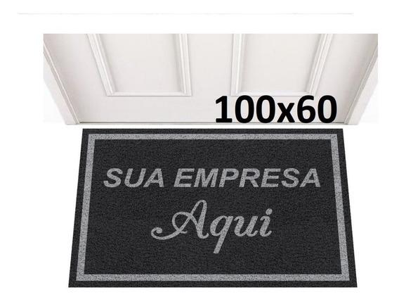 Tapete Capacho 100x60 Personalizado Logo Loja Comércio