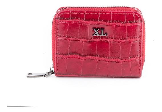 Tarjetero Ch Mujer Xl Extra Large Nataly Rojo