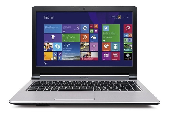 Notebook Positivo Stilo Xr3008 Rmf Dual Core 2gb 500gb 14 Windows 8.1 - Prata