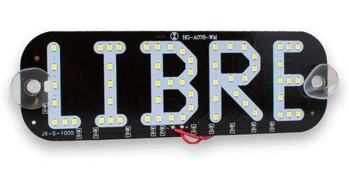 Imagen 1 de 4 de Letrero Led Taxi Libre Conector Encendedor Varios Colores