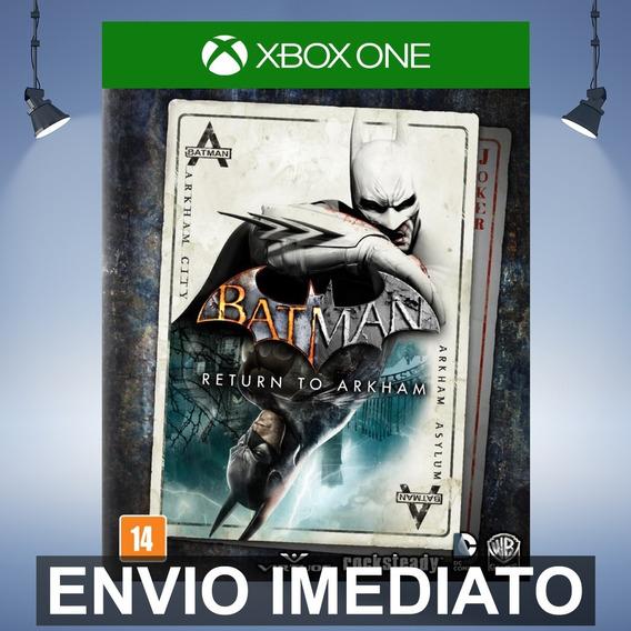 Batman Return To Arkham Xbox One Código 25 Dígitos