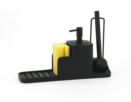 Dispenser Jabón Liquido Para Cocina  Porta Esponja Y Cepillo