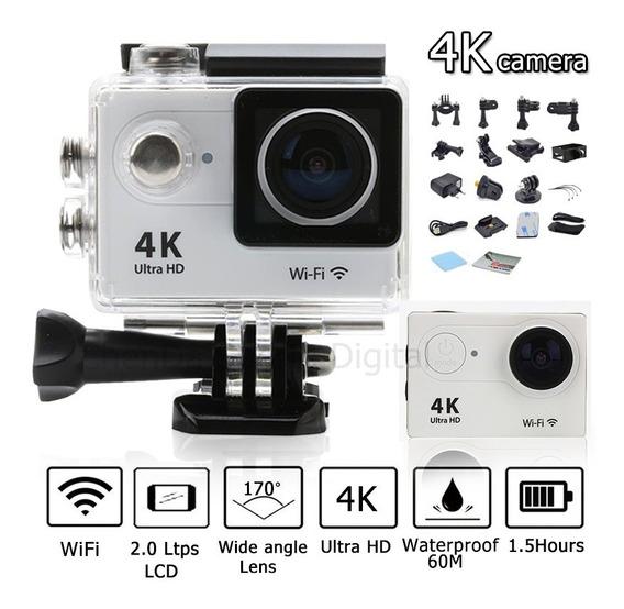 Filmadora Action Câmera 4k Wifi Wateerproof 30m Branco