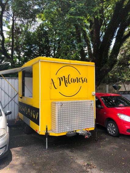 Trailer Food Truck Lanche 2018 3x2m Pronto Para Uso