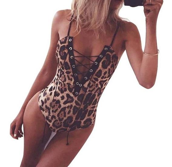 Body Sexy Mujer Enterizo Animal Print Muy Hermoso