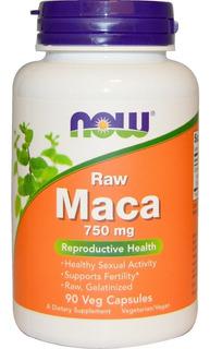 Maca Peruana - Now Foods - 750 Mg - 90 Caps - Importado