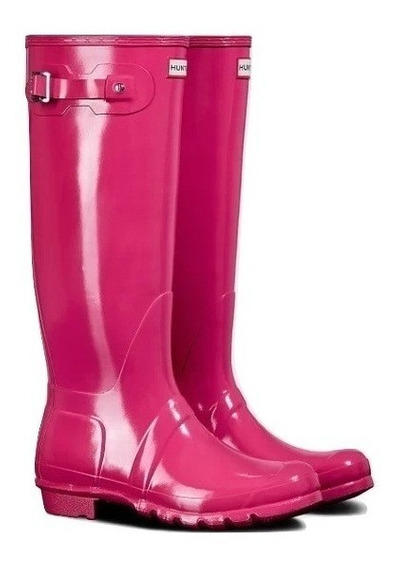 Botas Hunter Pink Gloss Nuevas Talle 7uk 9 Us 40/41 Eu