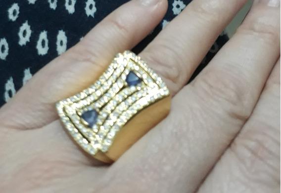 Belas Jóias . Anel F. Hueber Com Diamantes Ametista E Ouro .