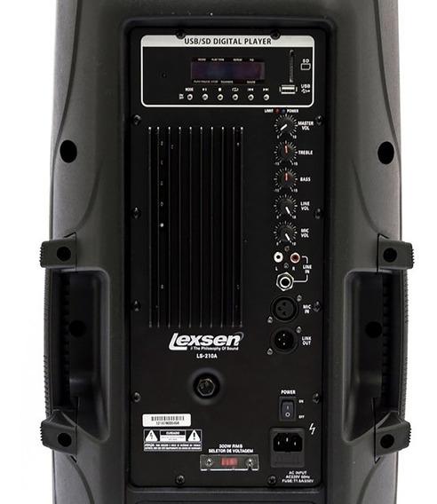Caixa Ativa Lexsen Ls-210a Mp3 Bivolt Com 300w| Frete Grátis