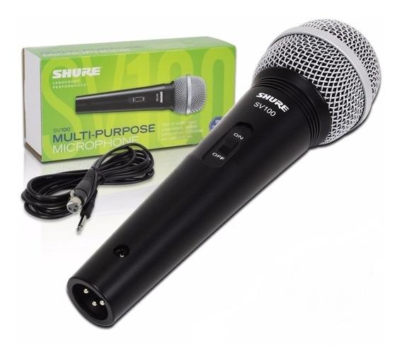 Microfone Shure Sv100 Novo C Nf 2anos Garantia
