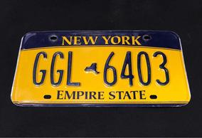 Placa Carro Estados Unidos New York Original Envio Por Carta