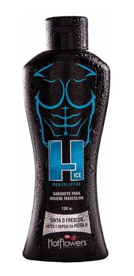 H Ice Sabonete Intimo Higiene Masculina 130ml Hot Flowers