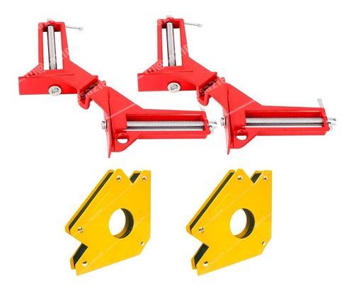 Imagen 1 de 1 de 2 Magnéticas De 3 Pulgadas Y 2 Prensas Esquineras.