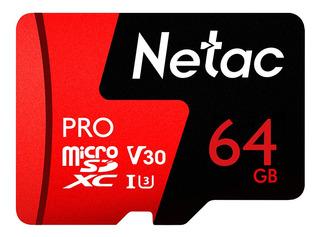 Netac 64gb Pro Micro Sdxc Tf Armazenamento De Dados De Cartã