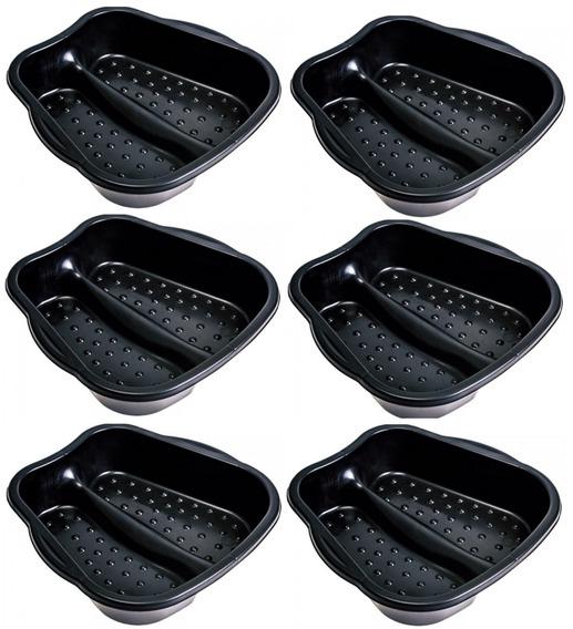 Bacia Plastica Para Pedicure Pés Preta - Arqplast 6un