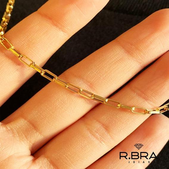 Corrente Cordão Cartier Oca Masculino 60cm Ouro 18k