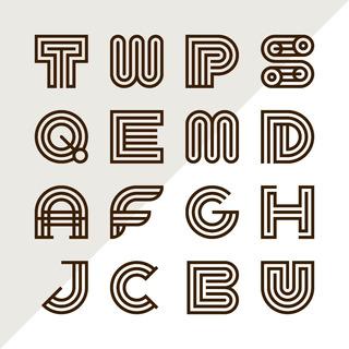 16 Diseños De Logos De Letras Monogramas Iniciales Vectores