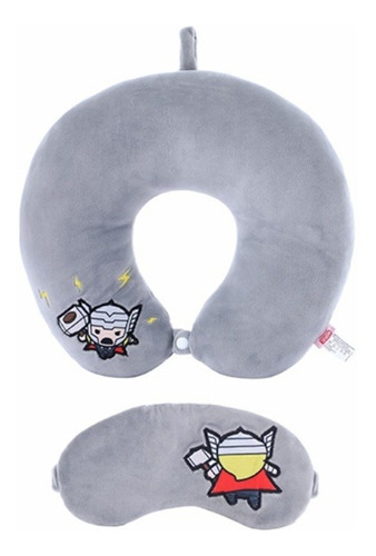 Almofada De Pescoço E Máscara P/ Olhos Thor Miniso