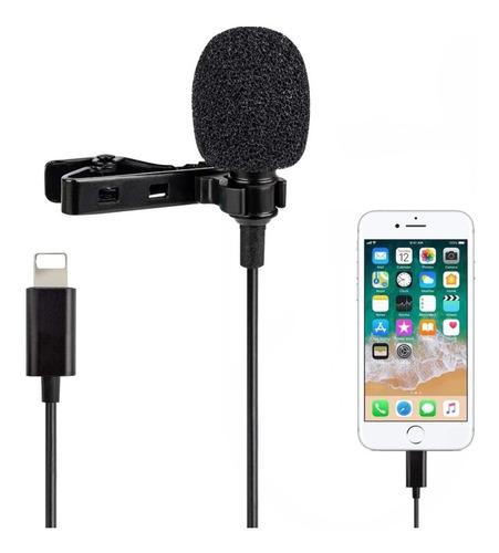 Imagem 1 de 7 de Microfone Lapela iPhone iPad Apple Lightning Profissional