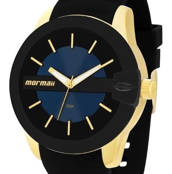 Relógio Mormaii Feminino Preto Dourado Analógico Original