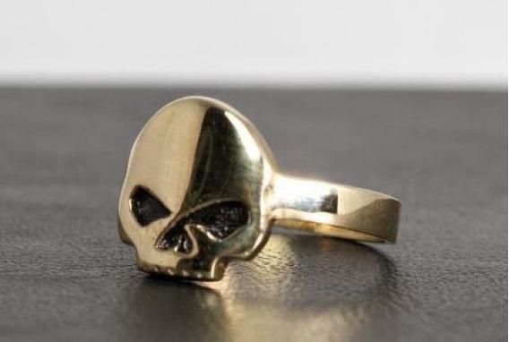 Anel Hd Skull Feminino Prata 925 Com Banho De Ouro