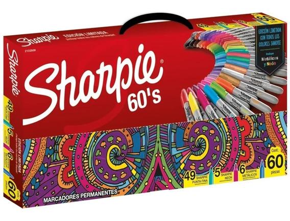 Marcadores Sharpie Valija Por 60 Colores Edicion Limitada