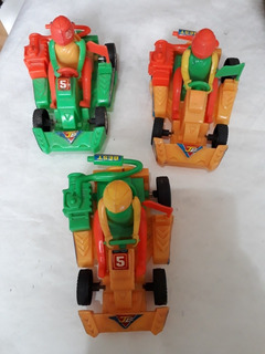 Miniatura Plástico De Kart 4 Unidades