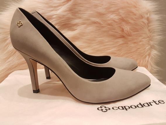 Sapato Scarpin Capodarte Cinza