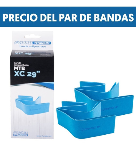Pack 2 Bandas Antipinchazo Fundax Mtb 29  Dserraje Y Titanio